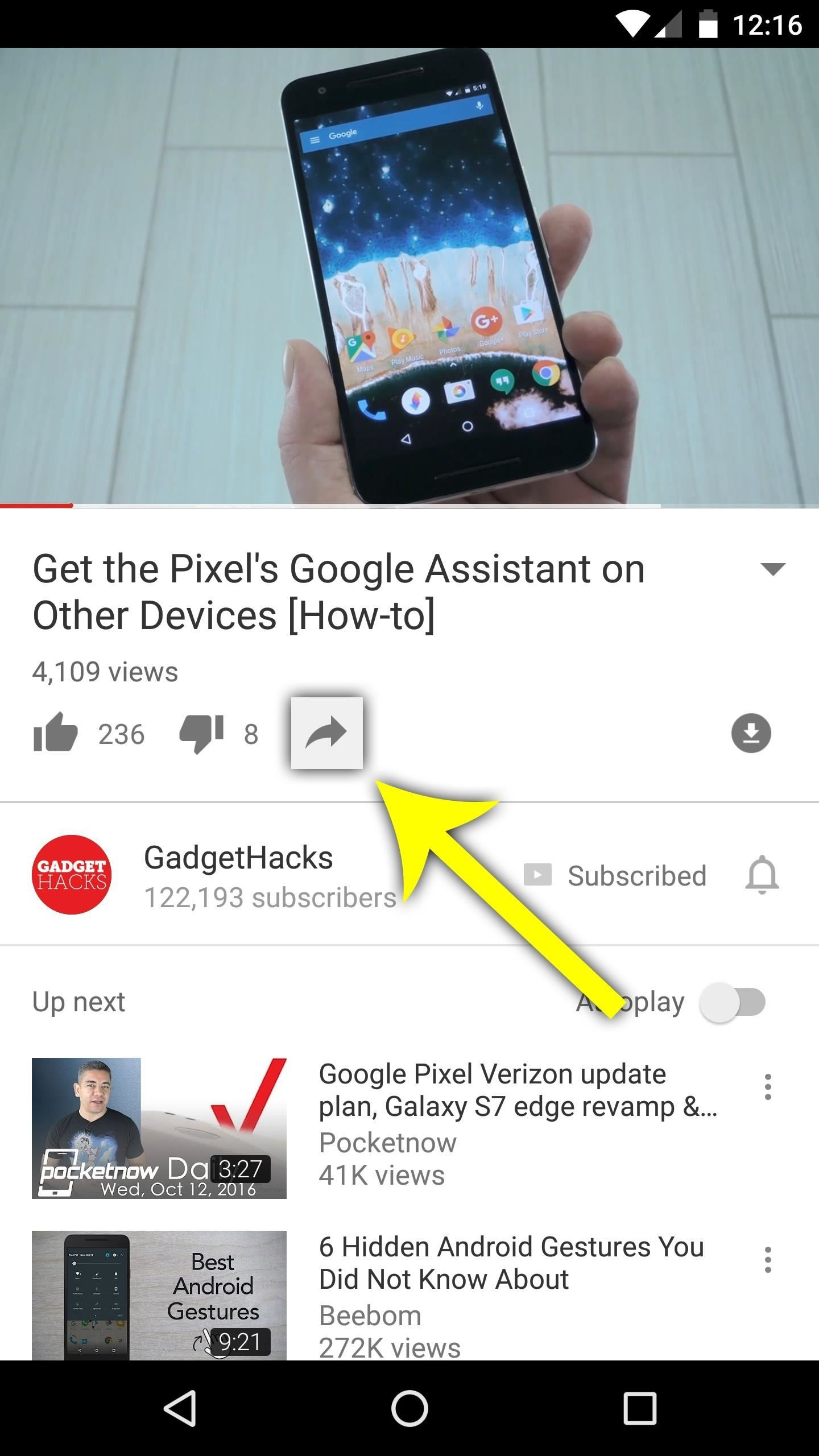 How to download youtube audio or video from your android android to start just find a video in your regular youtube app then tap the share button beneath the description and select peggo from the list ccuart Images