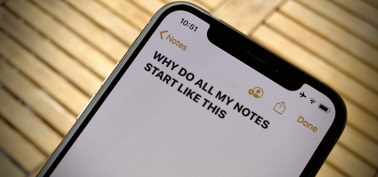 New Notes on Your iPhone Don't Have to Start with Big, Bold Text