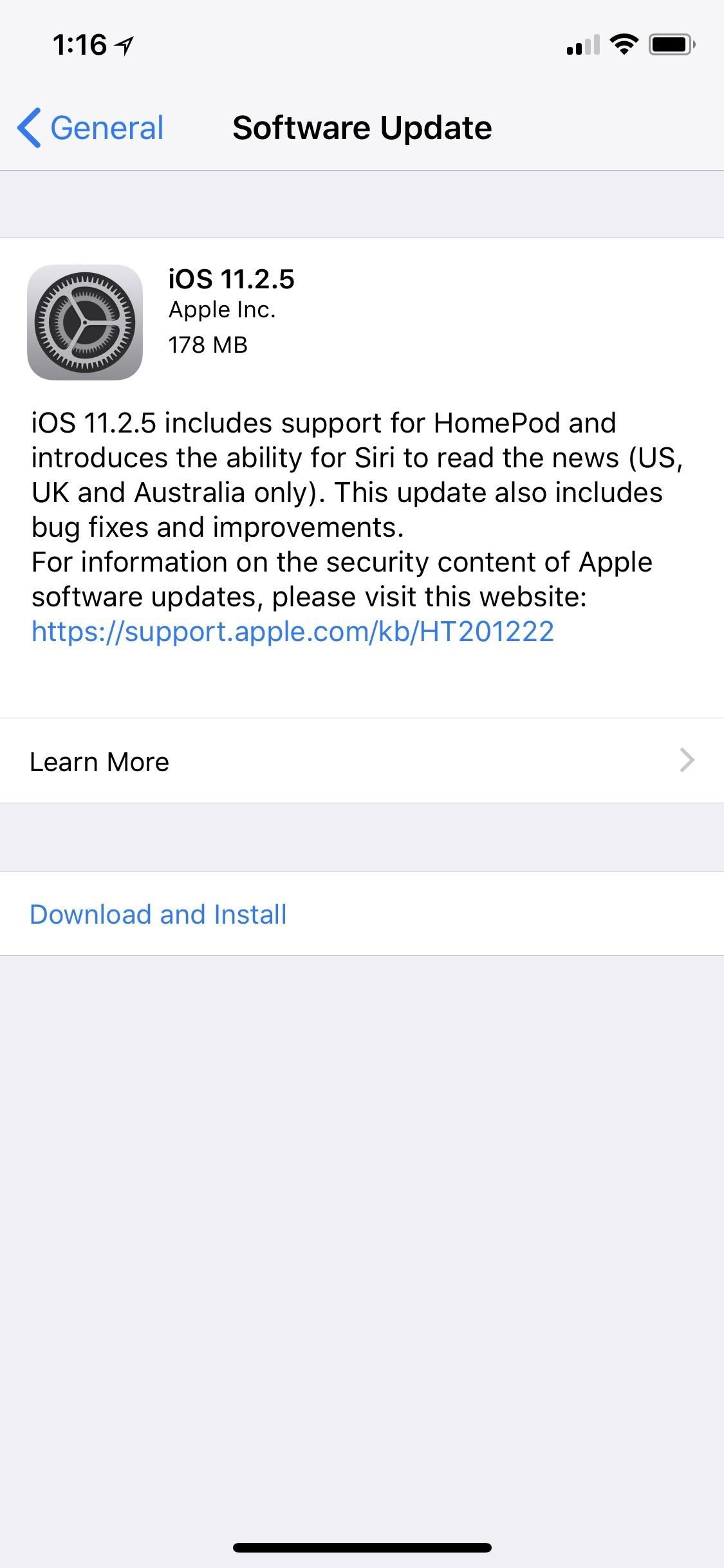 iOS 11.2.5 Released with ChaiOS Patch, HomePod Support & Persistent 'Now Playing' Bar