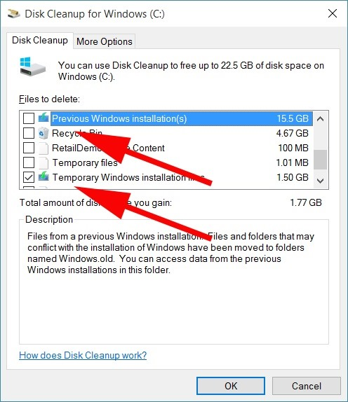 How to Reclaim Up to 20 GB of Hard Drive Space After Installing Windows 10