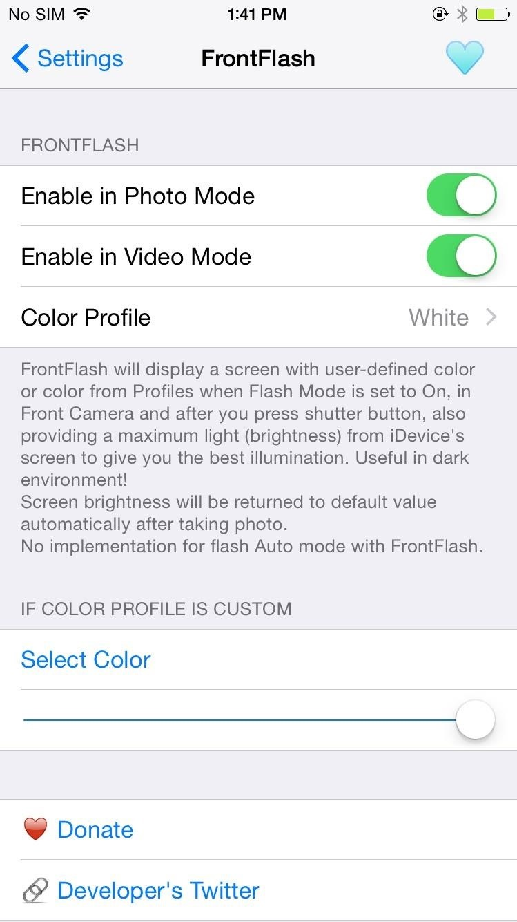 How to Get the 6S's New Front-Facing Selfie Flash on Any iPhone Right Now