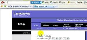 Change your IP address using a Linksys router