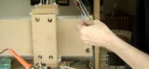 Connect the x and y-axis motor wires for a CNC router