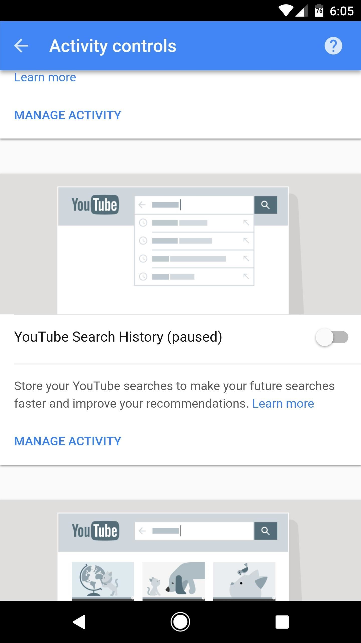 From Here, You Can Delete Individual Search History Items By Tapping The  Menu Button Next To Them And Choosing