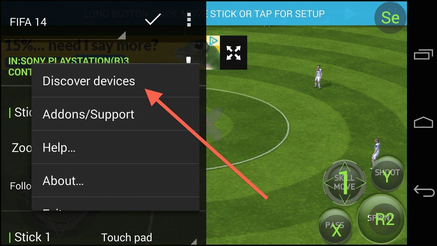 Play Any Android Game with a PS3 Controller (Or Other