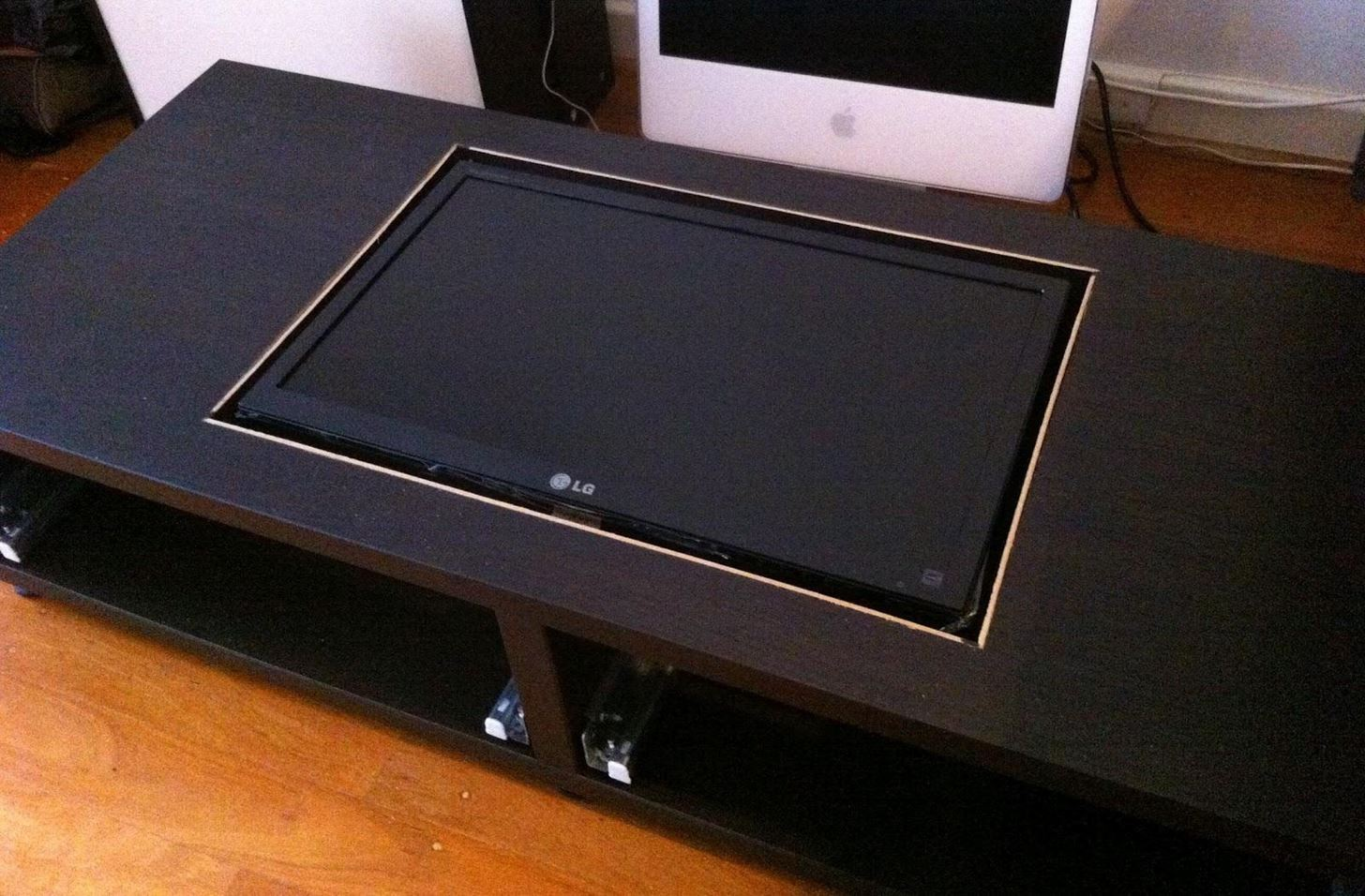 Disguise your gaming addiction with this diy coffee table arcade disguise your gaming addiction with this diy coffee table arcade machine hacks mods circuitry gadget hacks geotapseo Choice Image