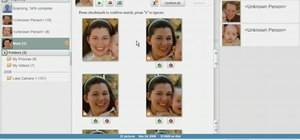 Use Picasa's face recognition feature