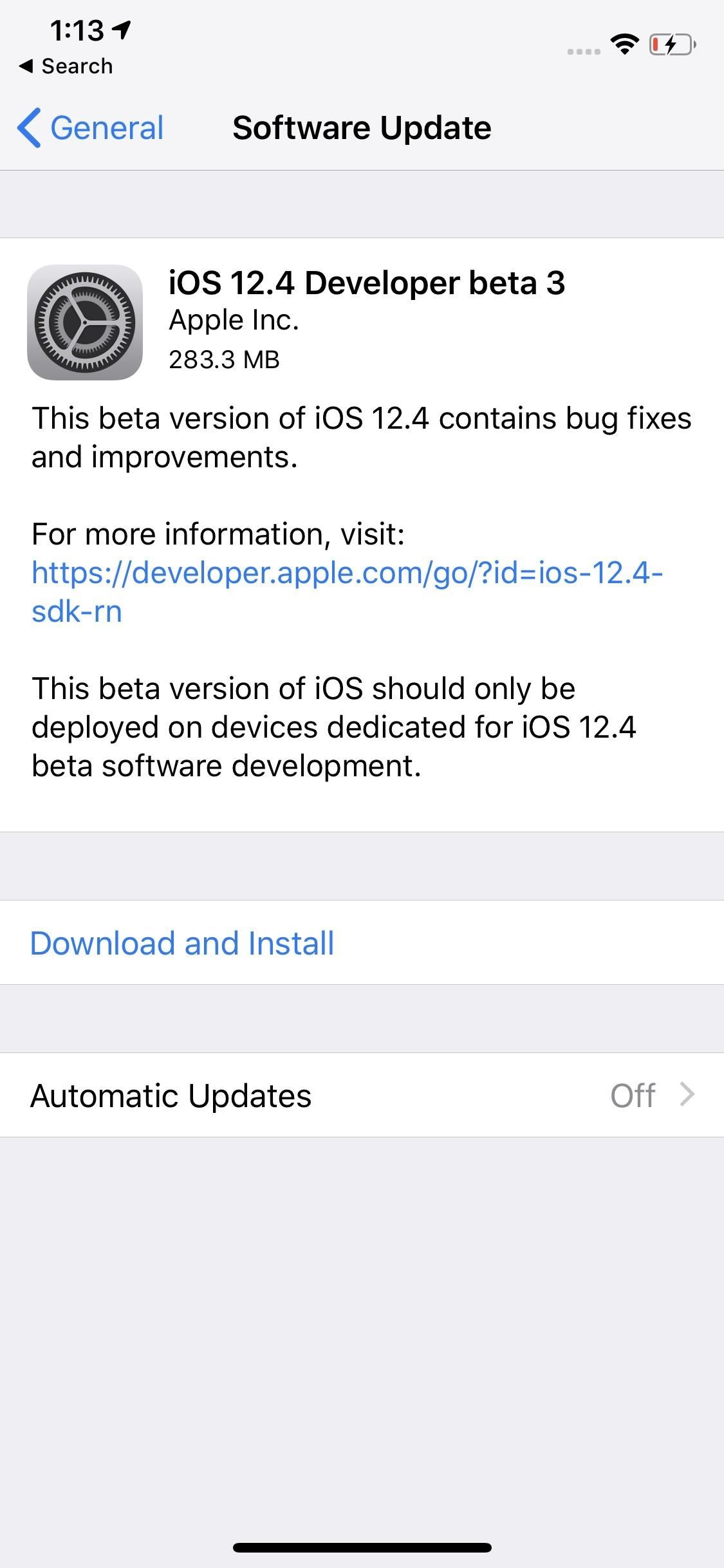 Apple Seeds iOS 12.4 Developer Beta 3 Today for iPhone