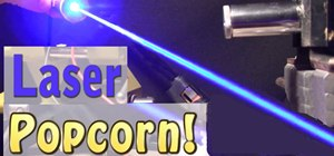 Use a laser to pop a batch of tasty popcorn
