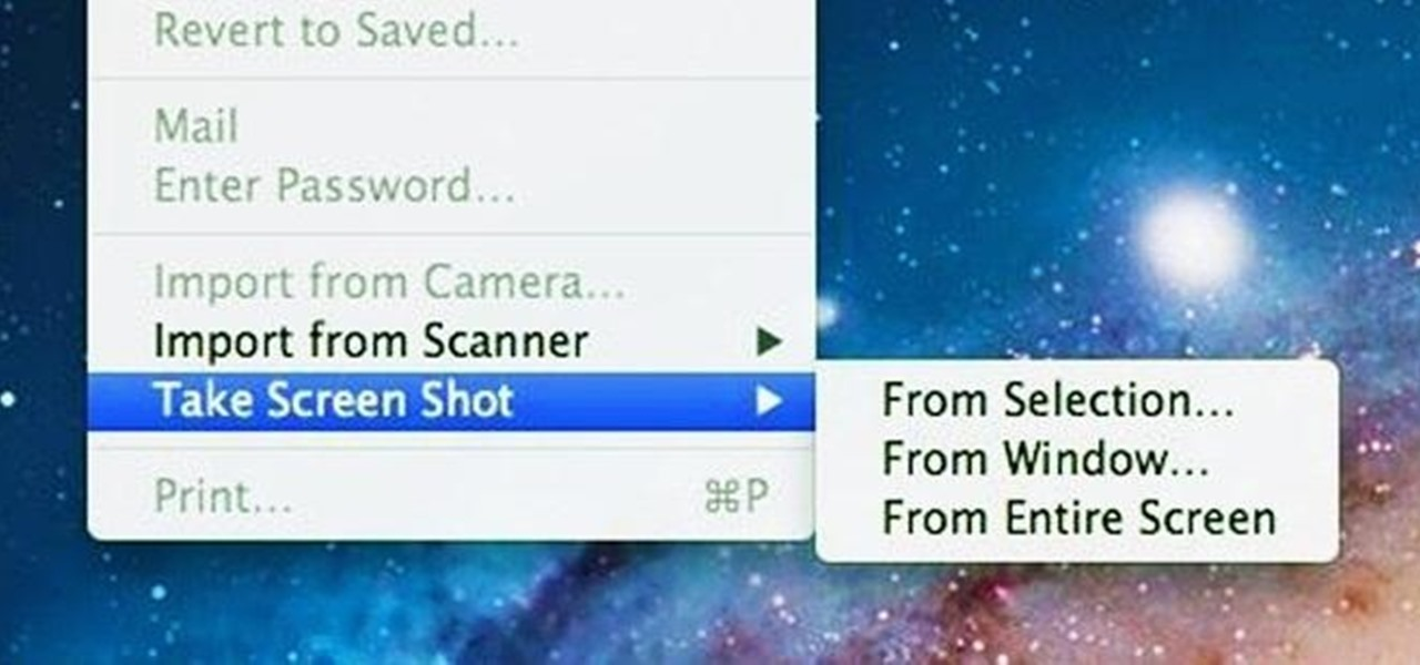 Take Screenshots Directly from the Preview App in Mac OS X