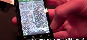 Use the Google Maps Navigation app on a Motorola Droid smartphone