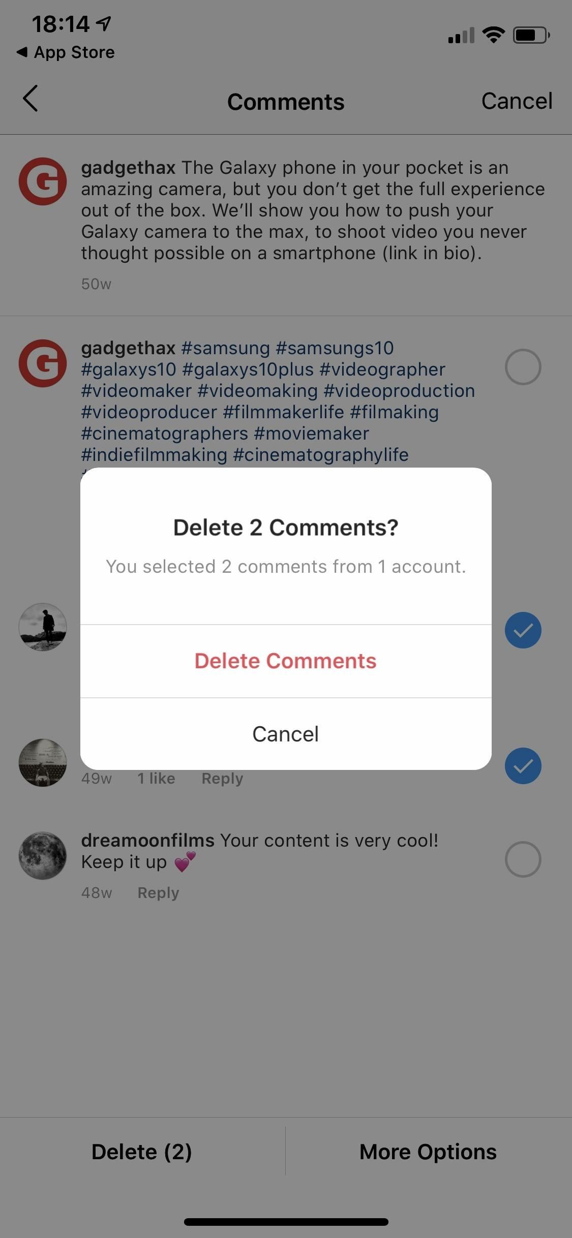 How to Bulk Delete Multiple Instagram Comments at the Same Time