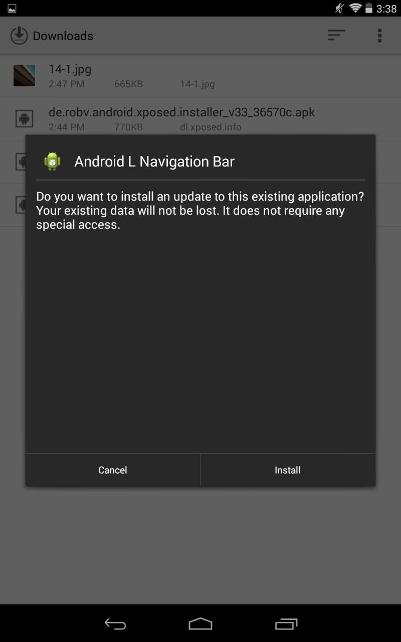 How to Get Android L's Navigation Bar on Your Nexus Running 4.0+