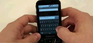 Text message with the Samsung Galaxy I7500