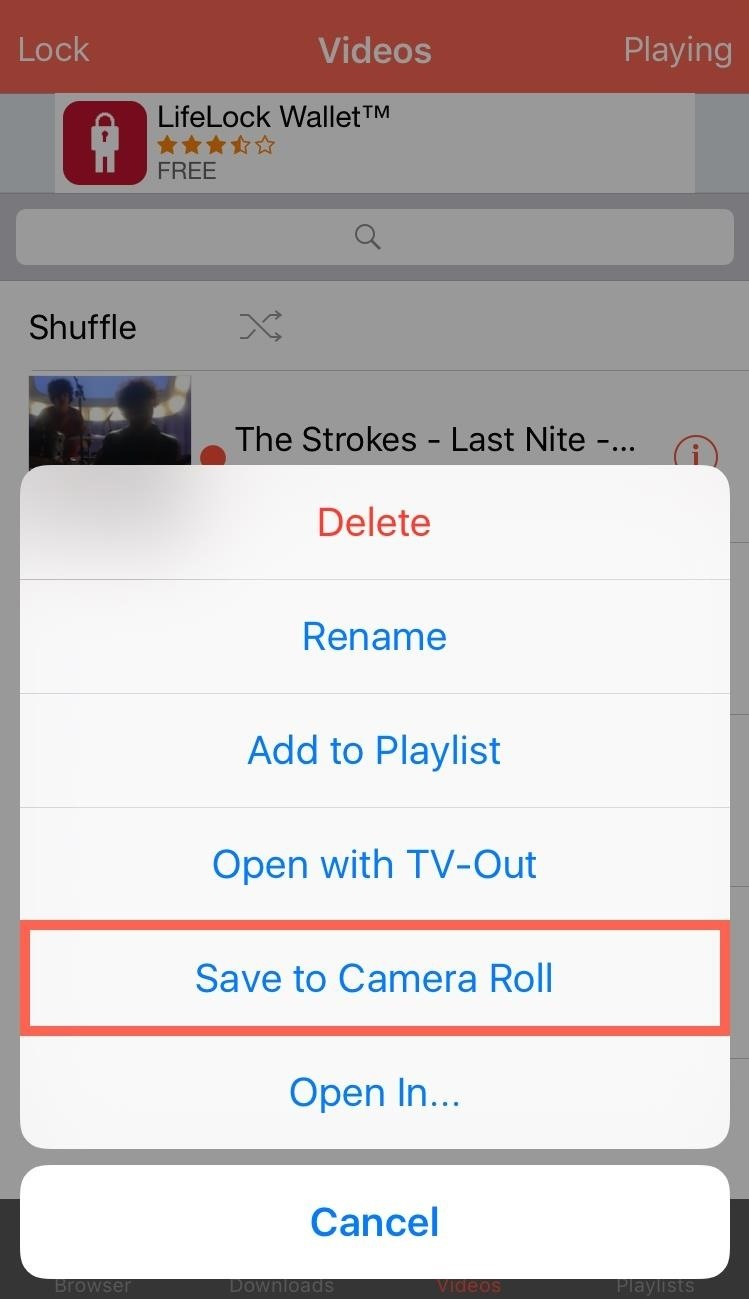 How To Save Youtube Videos Directly To The Camera Role Of Your iPhone