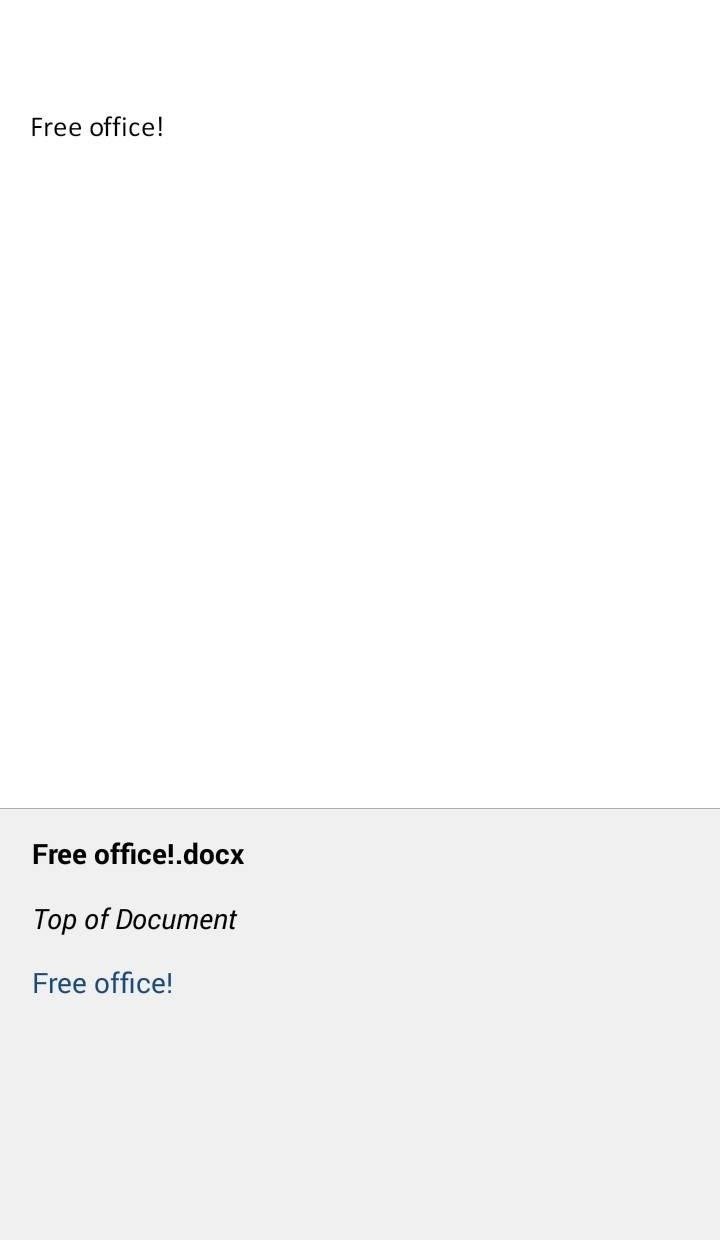how to create edit documents using microsoft office for android again from left to right we have buttons for automated table of contents for navigation purposes search edit and formatting and save share options