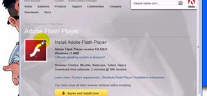 Download & install Adobe Flash Player plug-in on Firefox