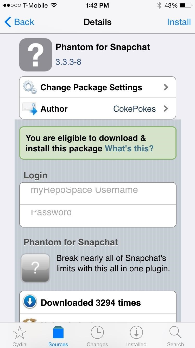 How To Delete Snapchat Stickers In Cokepokes's Beta Repo, You'll Find The  Beta Version Of Phantom For Snapchat