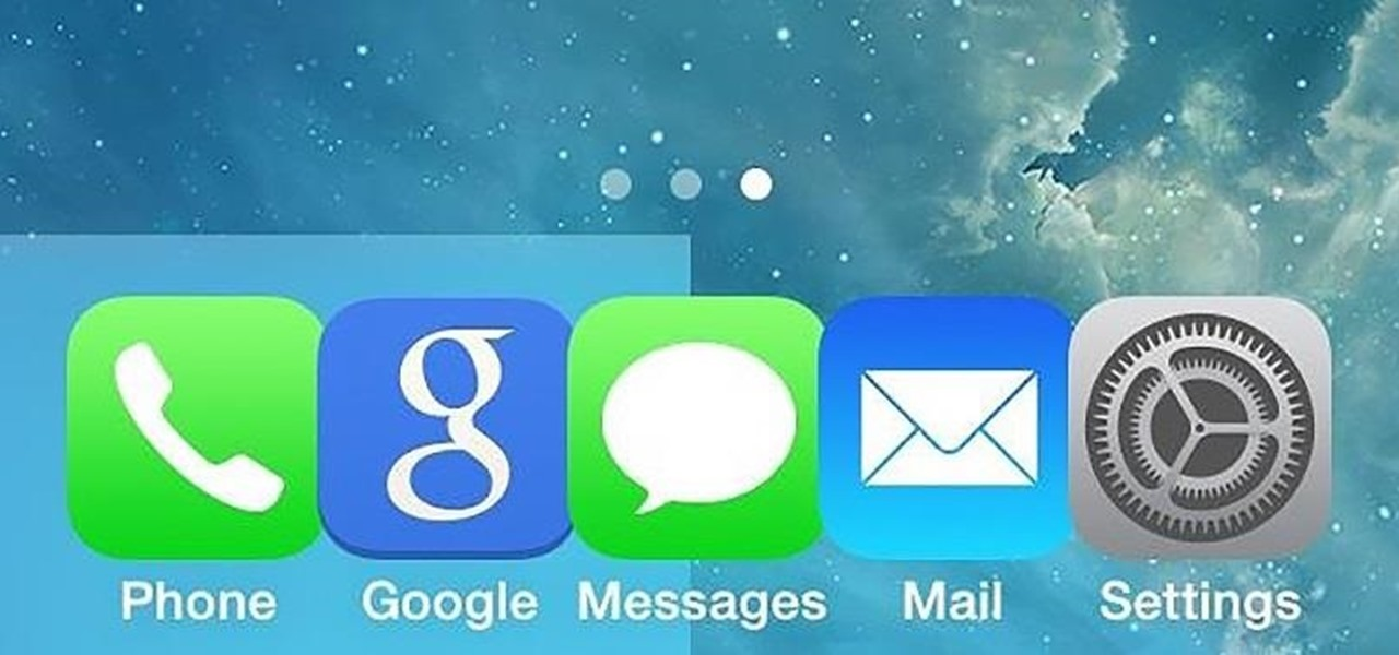 Make Your iPhone's Dock Background in iOS 7 Transparent Instead