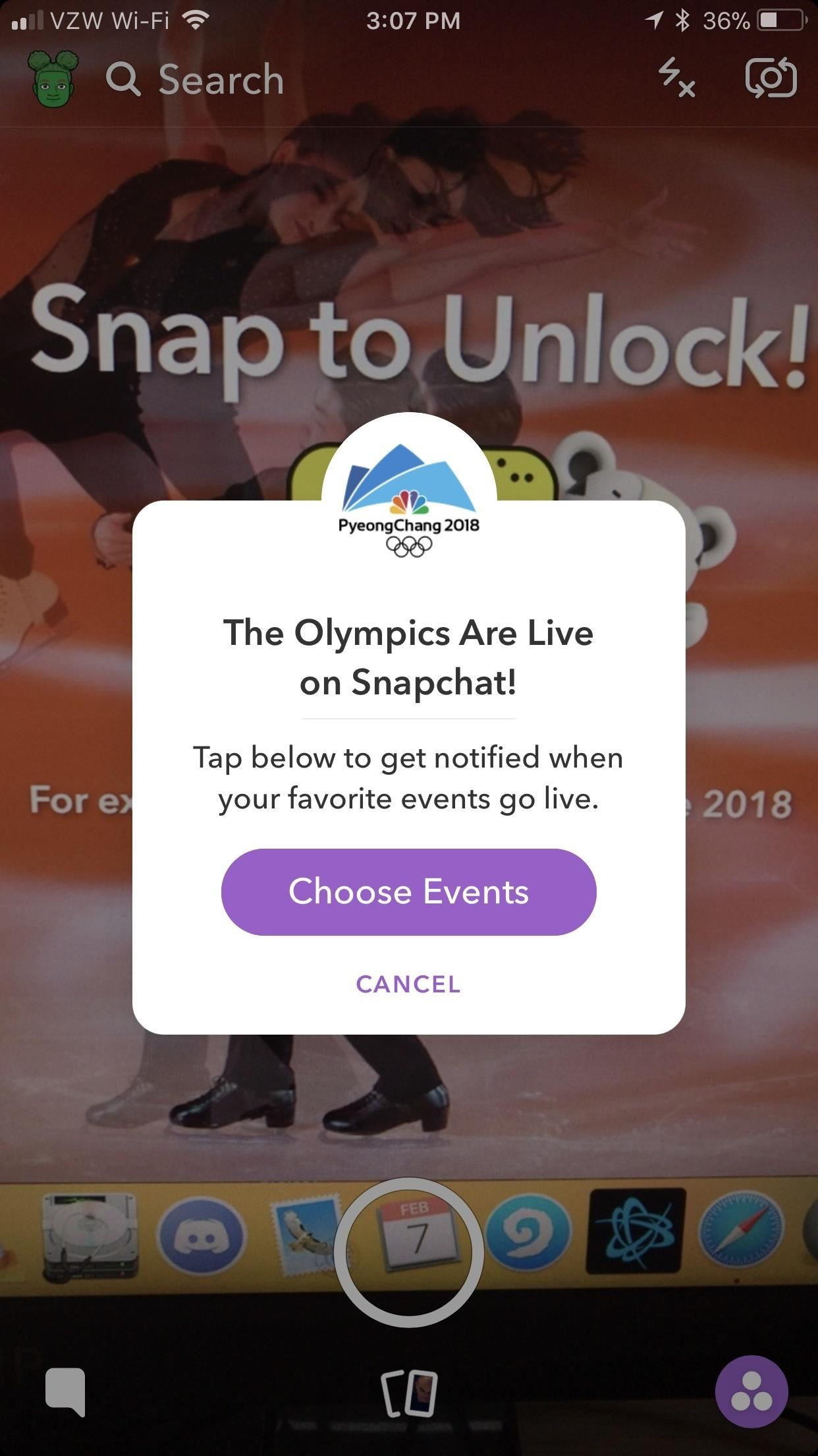 How to Watch the Winter Olympics with Snapchat