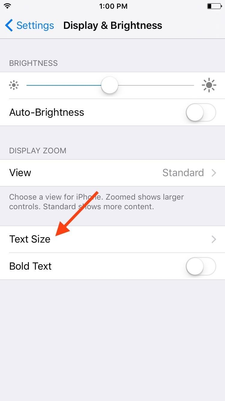 change iphone font how to change text size on your iphone or ipod 6999