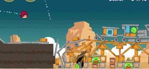 Beat level 12-15 of Angry Birds Hang 'em High with three stars