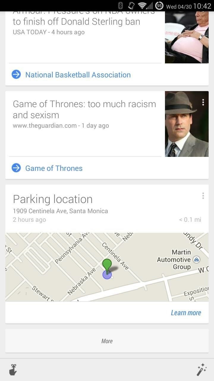 Google Now Will Automatically Remember Where You Parked
