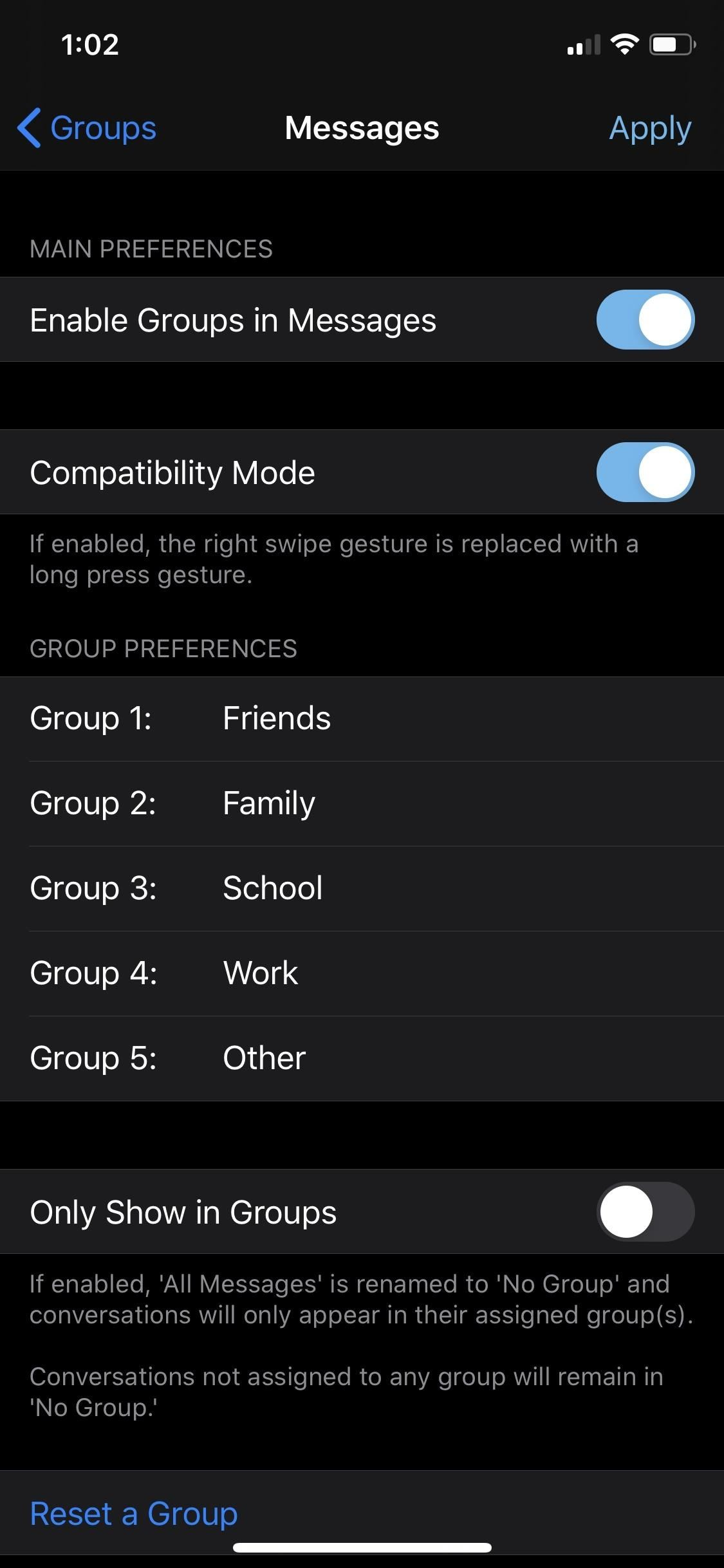 Organize Messages on Your iPhone by Grouping Threads Together into Specific Categories Like Family & Work