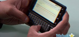 Check your email on a Motorola Droid phone