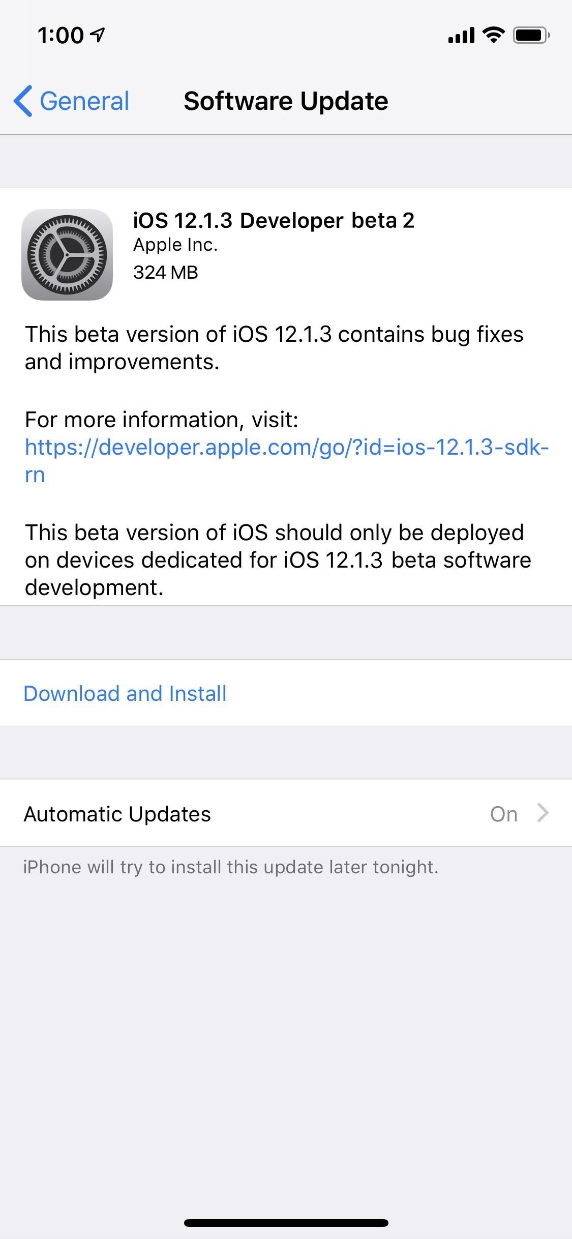 Apple Just Released Its iOS 12.1.3 Developer Beta 2 for iPhone