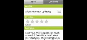 Automatically update applications on a Google Android smartphone
