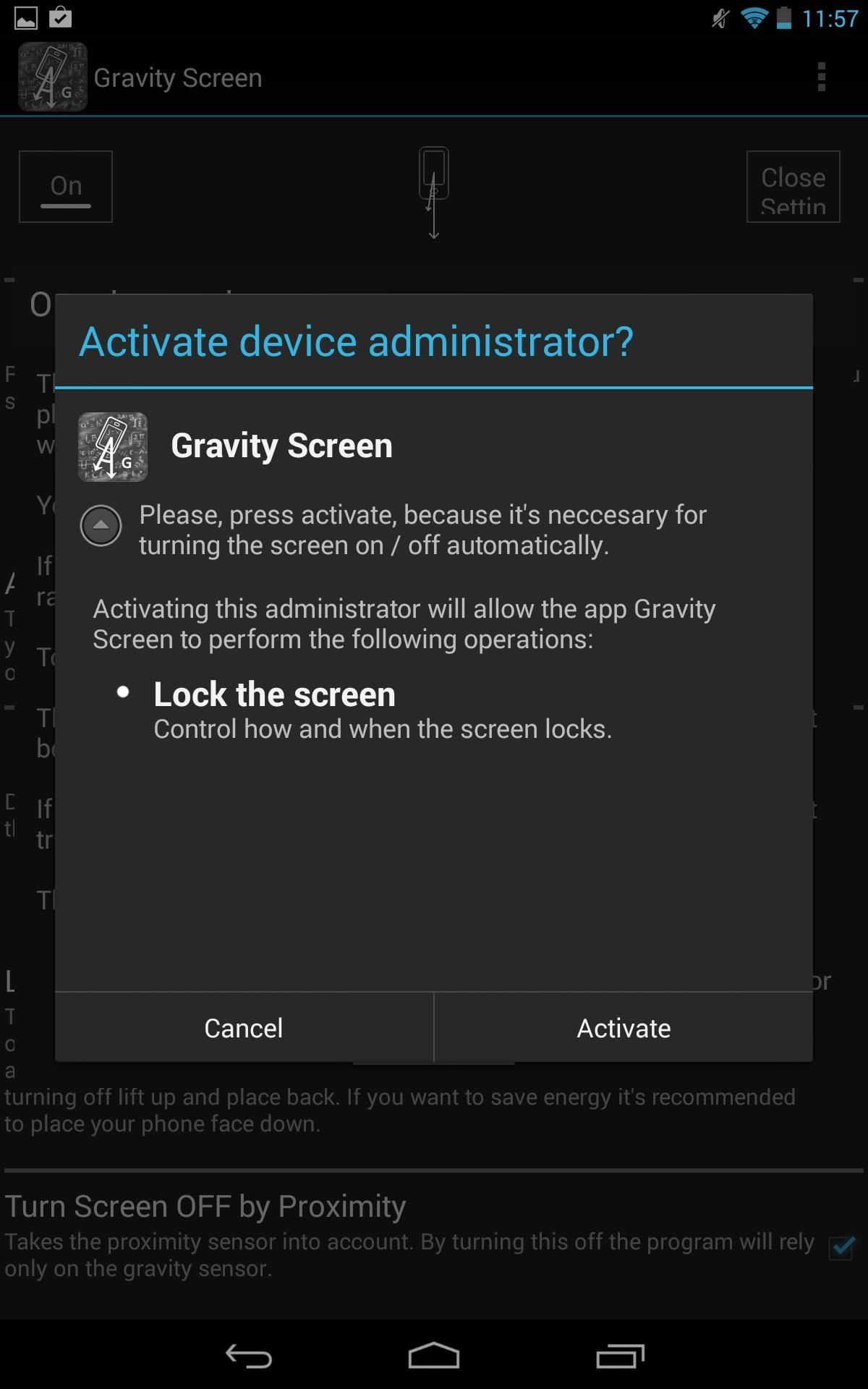 How to Turn Your Nexus 7's Screen Off & On Faster Using Gravity