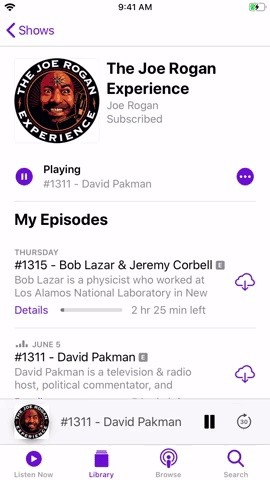 Mark Episodes As Played in Apple Podcasts to Remove Them from Your Up Next Queue