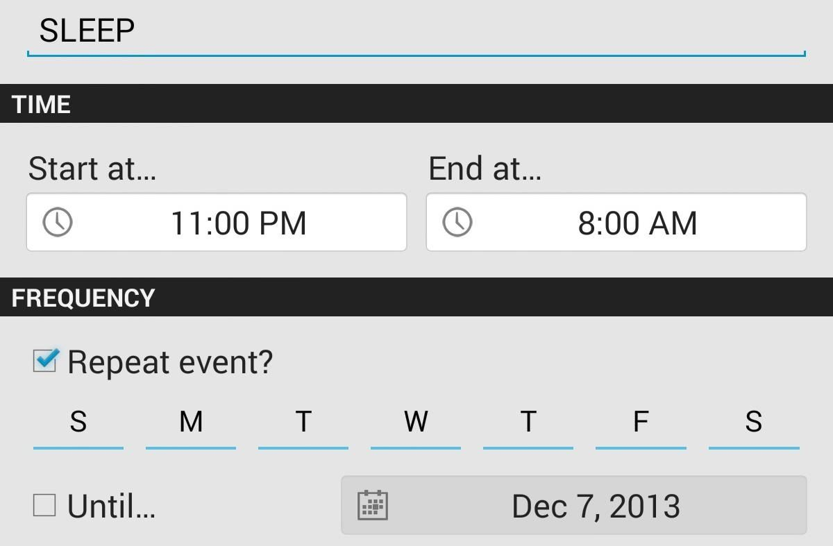 How to Make Your Nexus 7 Shut Up on a Schedule (Plus, Toggle Other Frequently Used Settings)