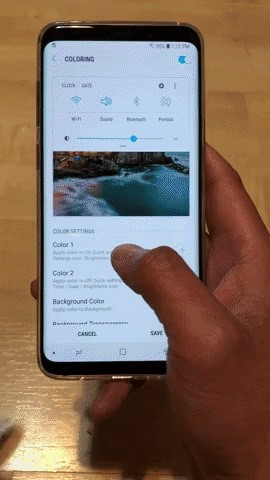 How to Get a Transparent Quick Settings Panel on Your Galaxy S8 or S9