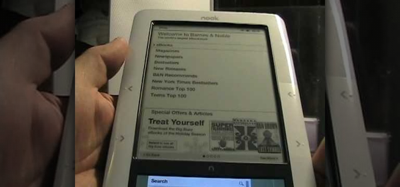 how to get started using the barnes amp noble nook e reader 86618