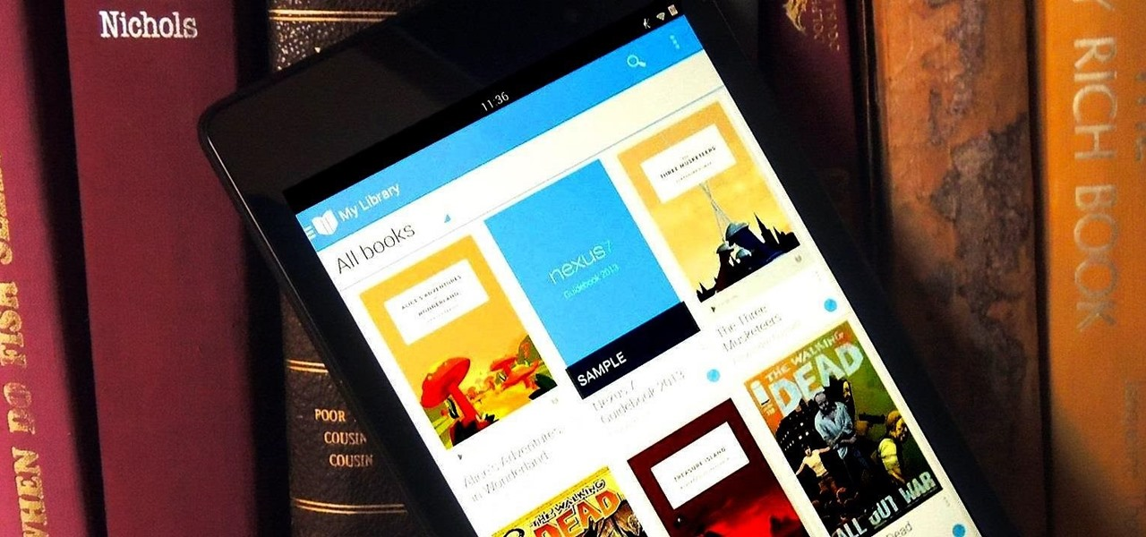 Upload Your eBook Collection to Your Nexus 7 Tablet Using Google Play Books