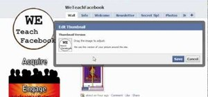 Swap your Facebook profile picture on your fan page