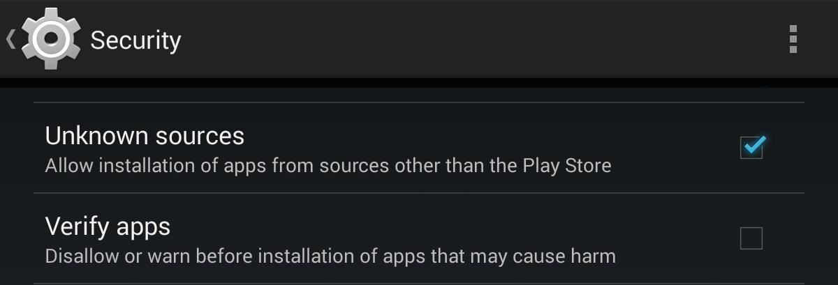 "How to Enable ""Unknown Sources"" on Your Nexus 7 for Access to Awesome 3rd-Party Apps"