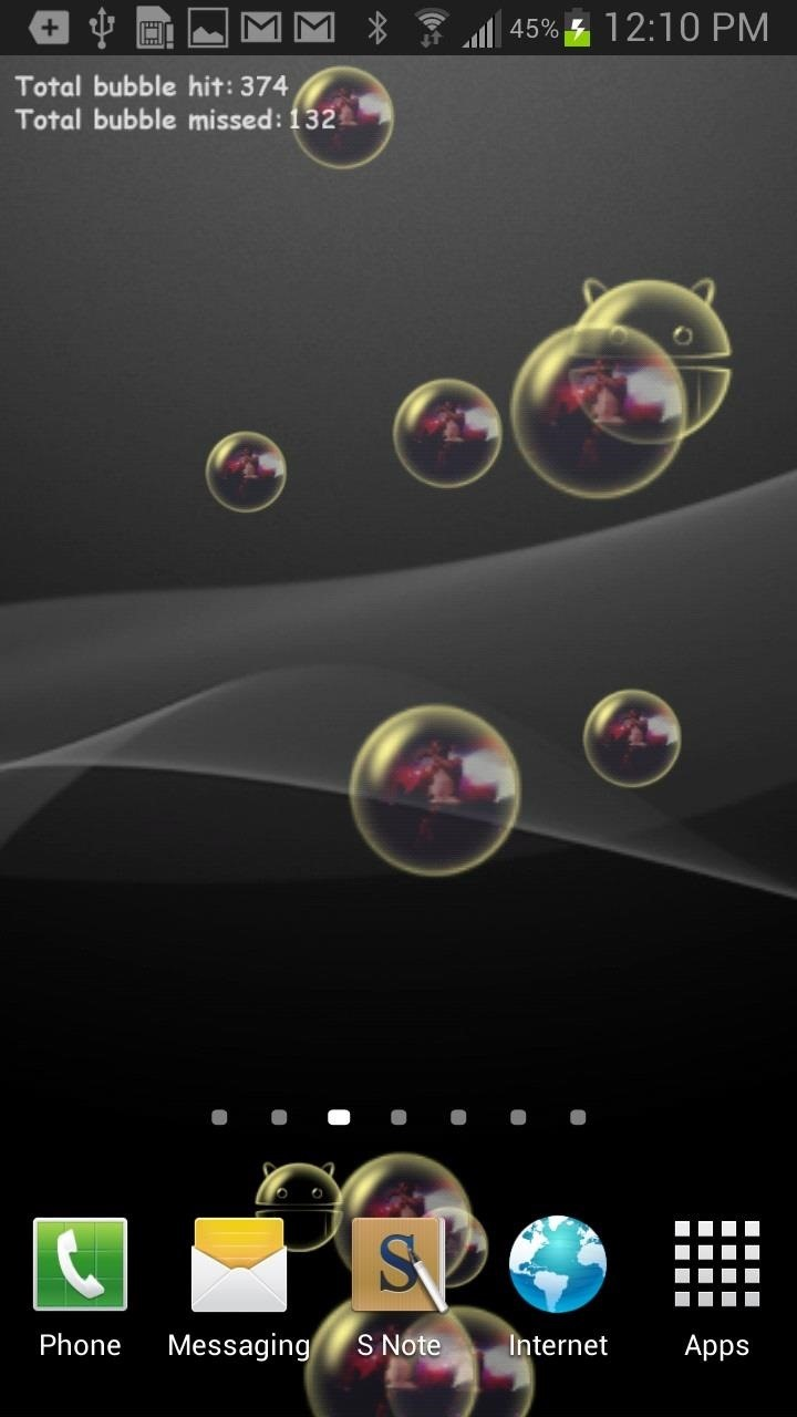 Wallpaper download for android - 5bubble Live Wallpaper