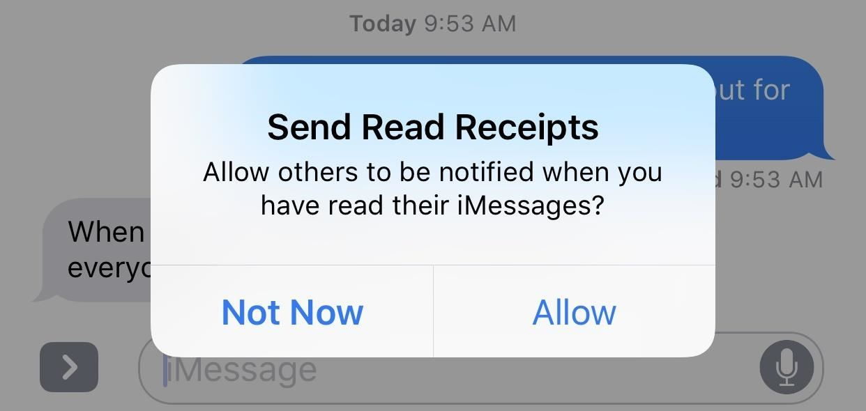 Messages 101: How to Enable & Disable Read Receipts for iMessages