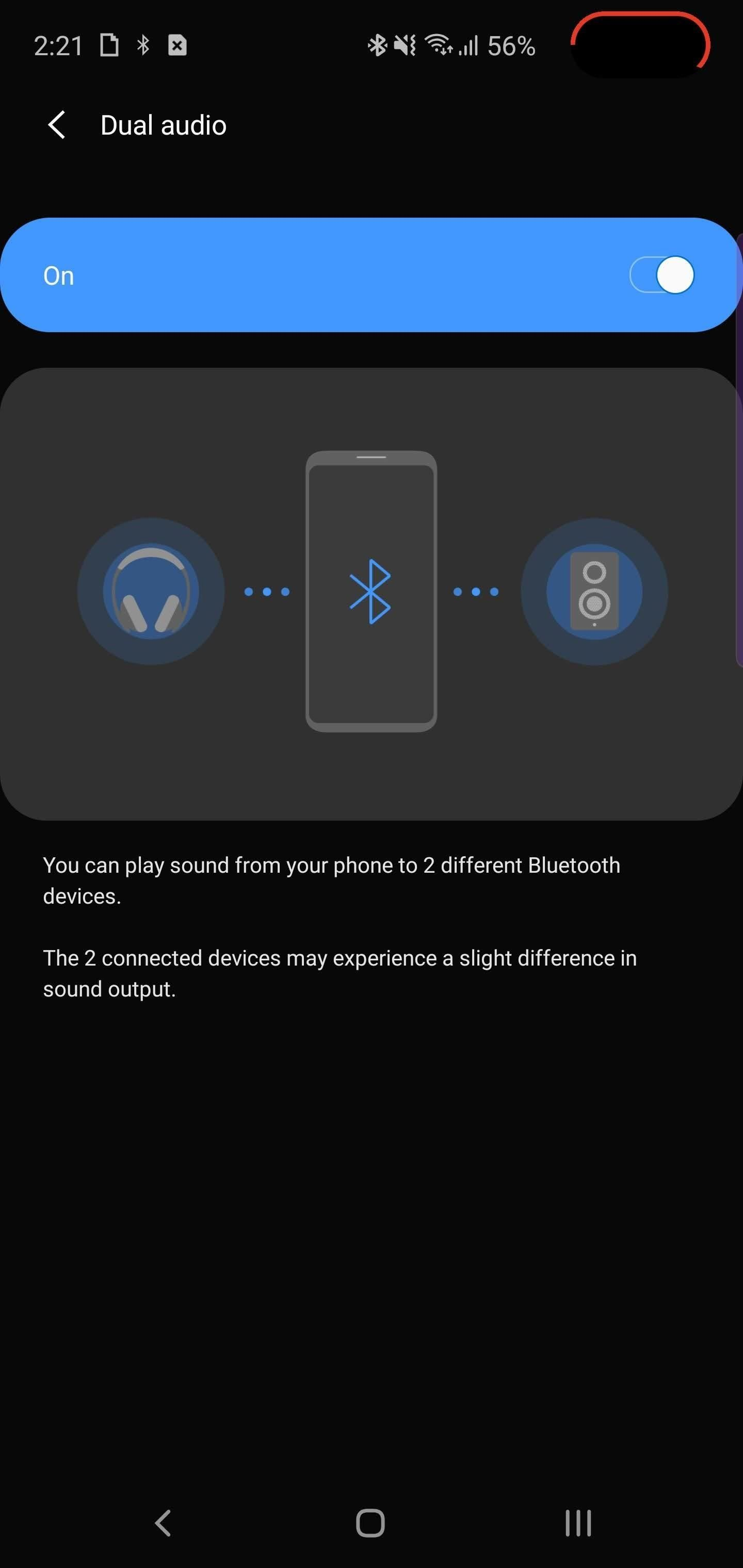To play music on 2 devices Bluetooth from 5 on your Galaxy