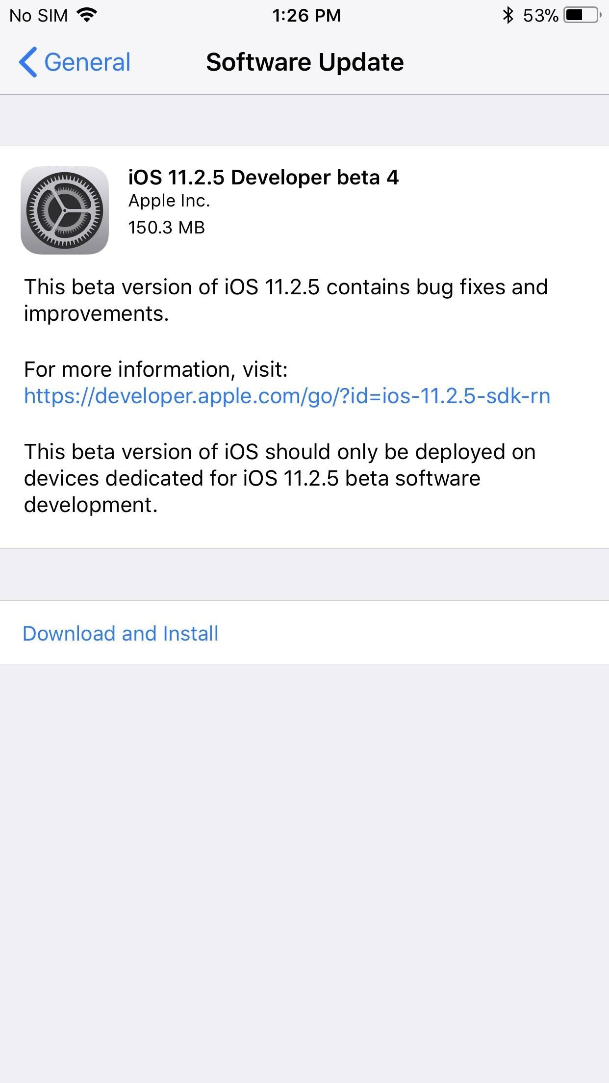 iOS 11.2.5 Beta 4 Released for iPhones with Fix for Loud Sounds