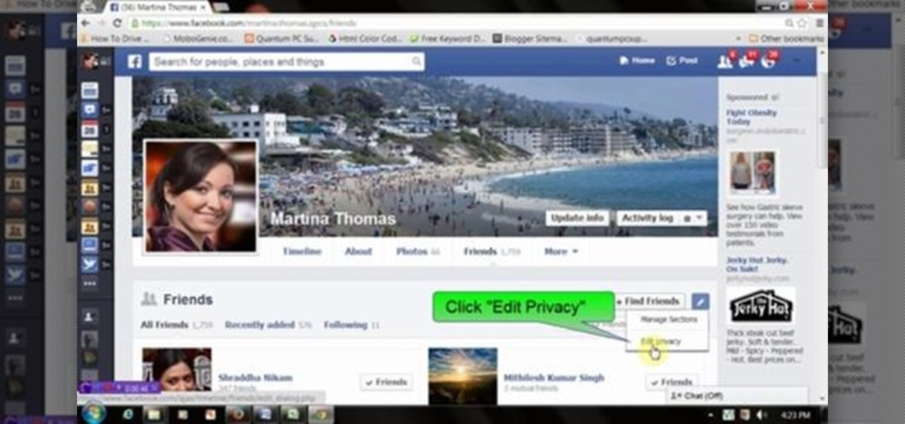 Hide Friend and Follower List on Facebook