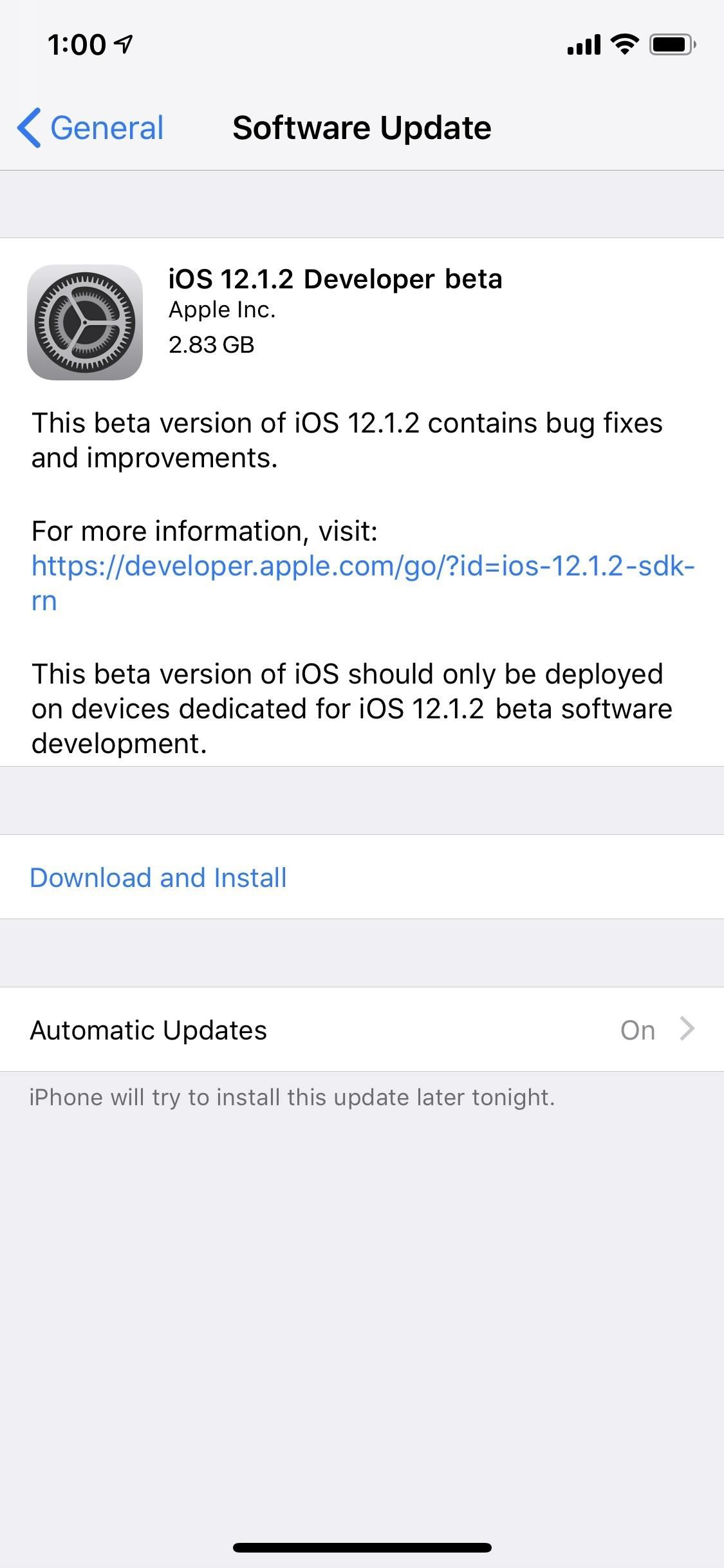 Apple Just Released the First iOS 12.1.2 Developer Beta
