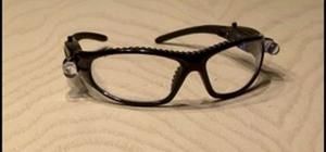 Make LED-enhanced anti-paparazzi glasses