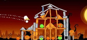 Beat level 3-11 of Angry Birds Halloween with three stars