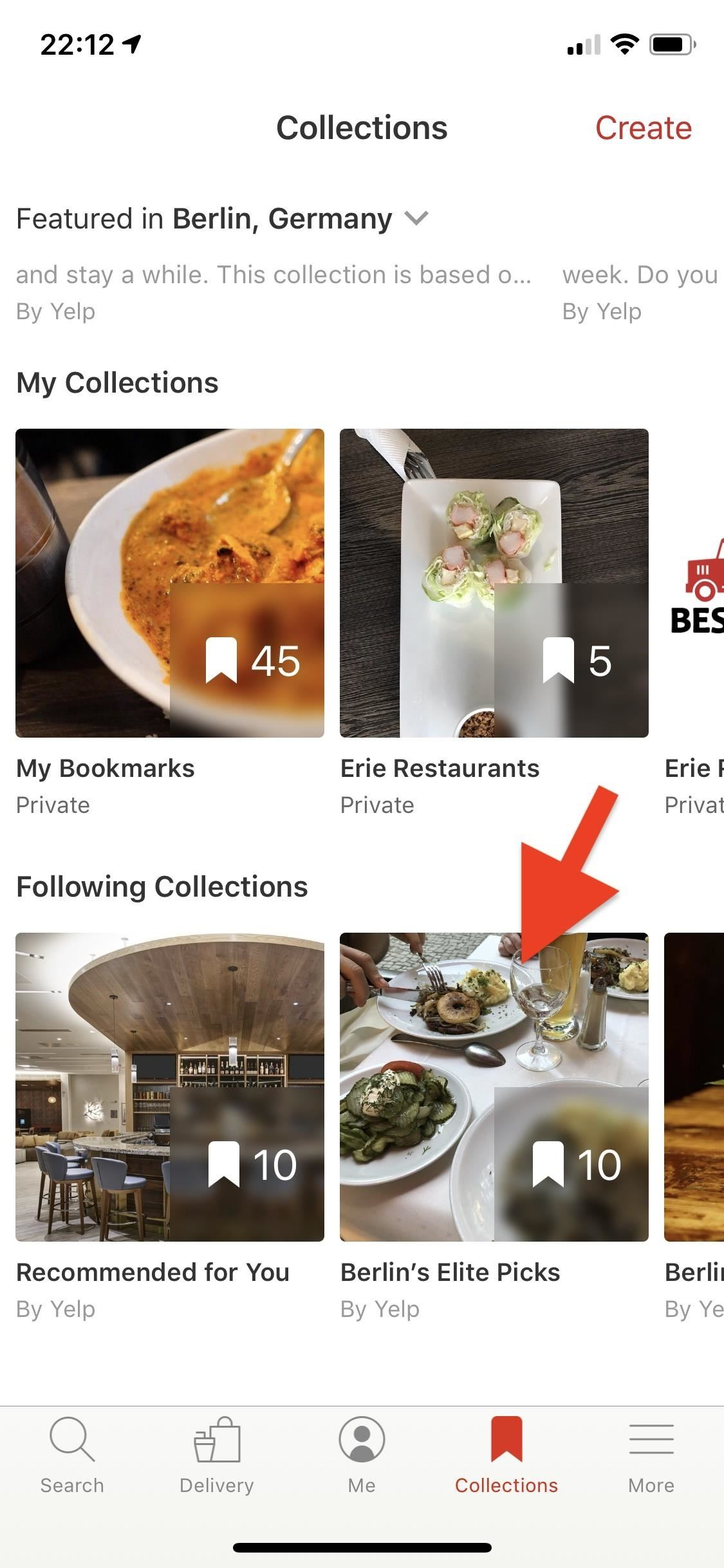 Use Yelp Collections to search for new locations and to preserve your marked locations More organized
