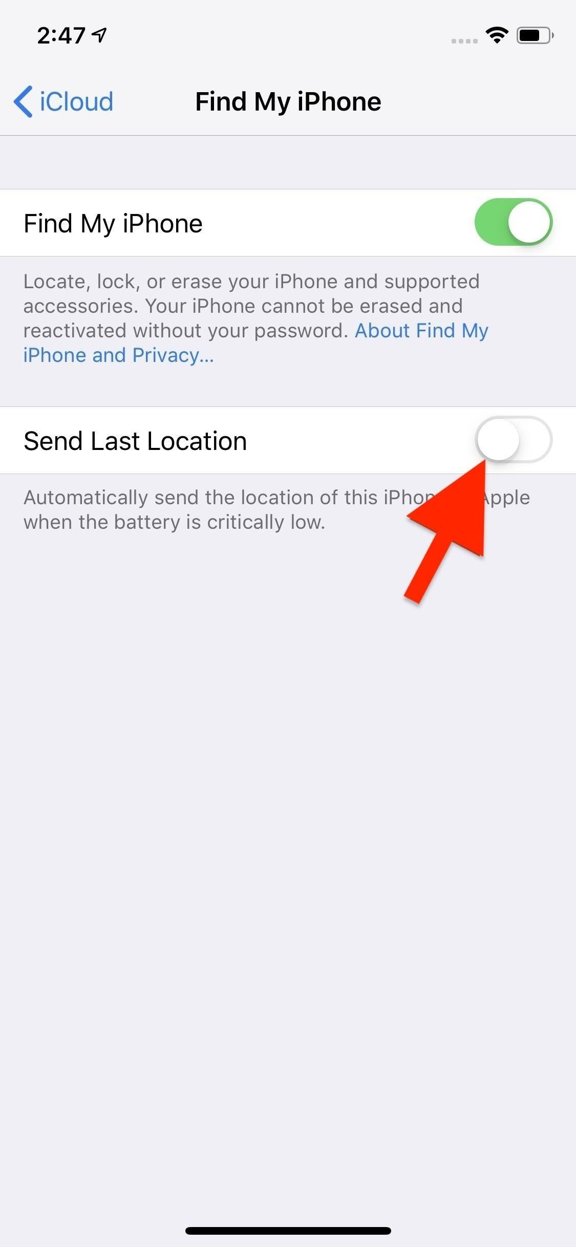 This Setting Makes It Easier to Locate Your iPhone When It's Dead or Offline
