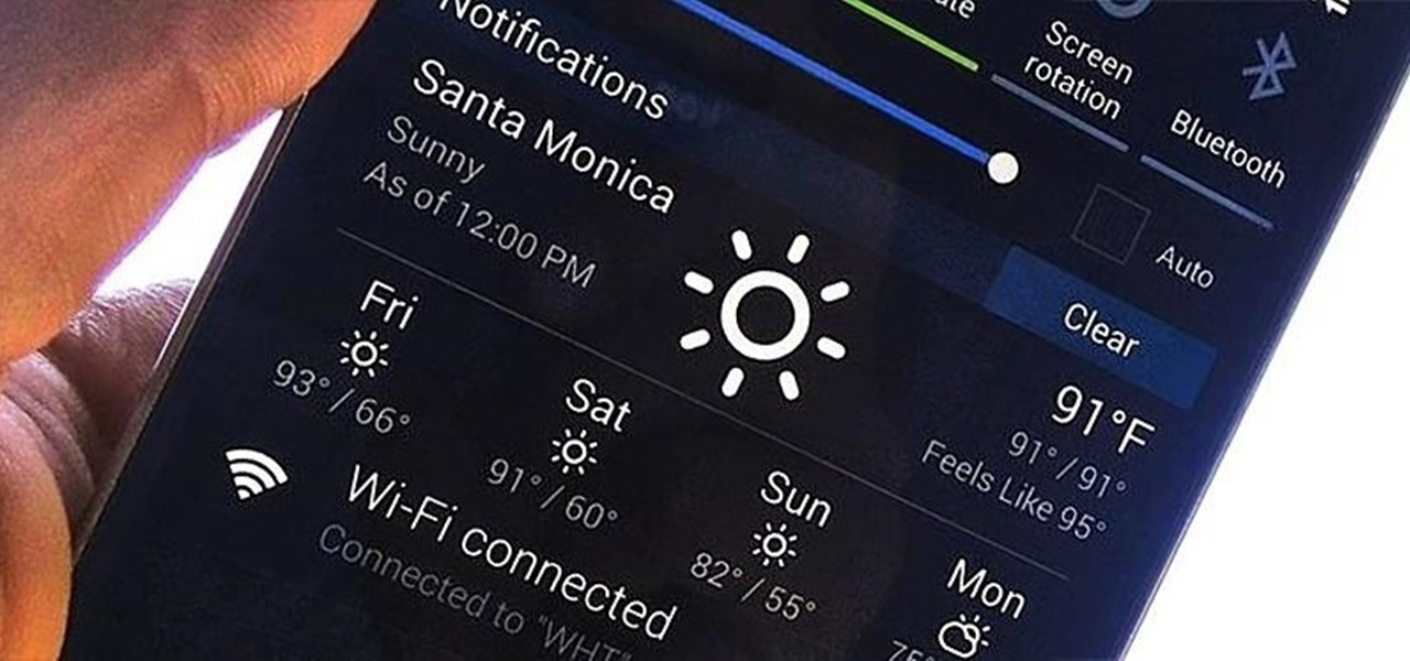 Get Weather Forecasts in the Notification Shade on Your Samsung Galaxy S4